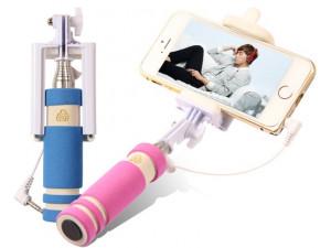 Монопод для селфи Mini Bluetooth (розовый), Aksberry