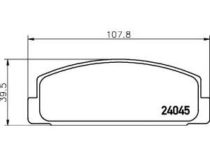 Колодки тормозные задние TEXTAR 2404501 для MAZDA 6/626