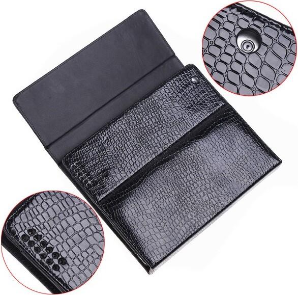 Беспроводная Bluetooth-клавиатура + кожаный чехол для iPad 2/3, черный