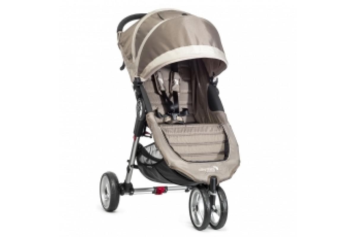 Baby Jogger City Mini Single - коляска прогулочная песочно-серая