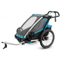Thule Chariot Sport1 - детская мультиспортивная коляска голубой