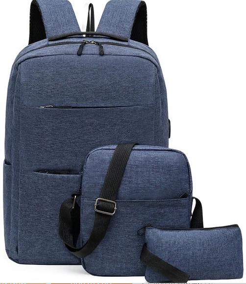 Комплект аксессуаров 3 в 1 рюкзак / сумка / сумочка, синий
