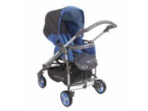 BabyLux Carita 205S (4 колеса) - прогулочная коляска Led Blue/синий голубая