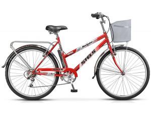 """Велосипед Stels Navigator 26"""" 250 Lady Z010 Темно-красный (с корзиной) (LU089101) 19"""""""