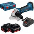 Углошлифовальная машина (болгарка) Bosch GWS 18 V-LI (0.601.93A.30K)  2х5Ач l-boxx