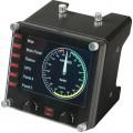Приборная панель с ЖК-дисплеем для авиасимуляторов Logitech G Saitek Pro Flight Instrument Panel - EMEA, 945-000008
