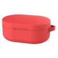 Чехол силиконовый для наушников Xiaomi Redmi AirDots, красный