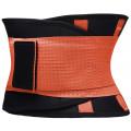 Фитнес пояс для похудения CleverCare, оранжевый, размер XL