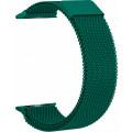 Ремешок сетчатый на магните для Apple Watch 44мм, зеленый
