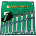 Набор рожковых ключей JonnesWay W25108S (6 - 22 мм)  8 шт.