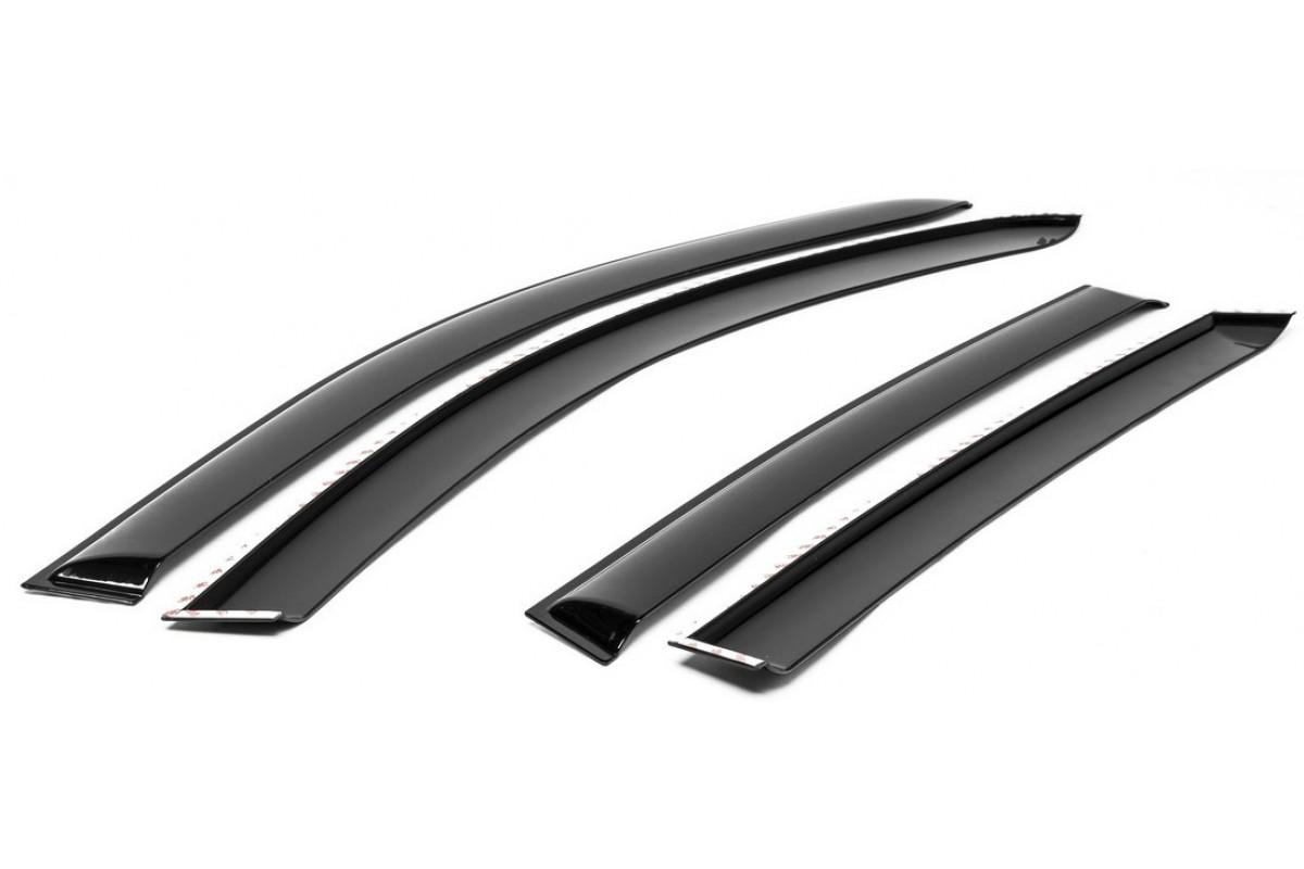 Дефлекторы AutoFlex для окон Nissan Terrano III 5-дв. 2014-, поликарбонат, 4 шт., 841102