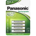 Аккумуляторы Panasonic HHR-4MVE/4BC AAA Ni-Mh Ready to use в блистере 4шт 750мАч