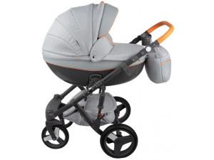 Adamex Monte Carbon - коляска 3 в 1 серо-оранжевый D9