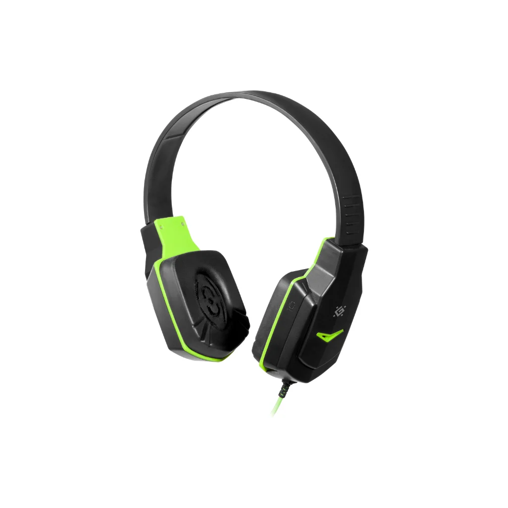 Игровая гарнитура Defender Warhead G-320 черный+зеленый, кабель 1.8 м