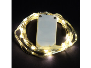Гирлянда Sh Lights 20 теплых белых минидиодов, на батарейках, LDM020WW-BO