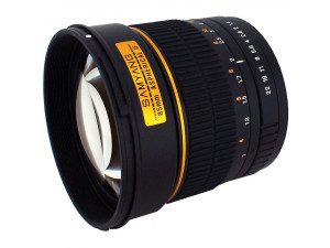 Samyang 85mm f/1.4 AS IF UMC Canon EF chip X0098