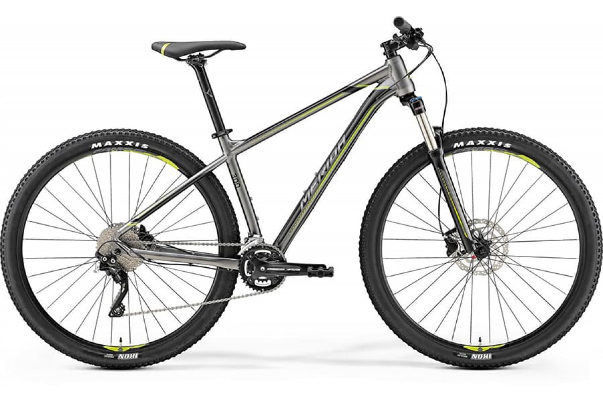 "Велосипед Merida Big Nine 300 Silk Anthracite (Green/Black) 2019 L(18,5"")(72615)"