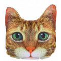 Подушка декоративная Худжанд рельефная с фотопечатью Рыжий кот