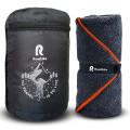 Полотенце спортивное охлаждающее RoadLike Terry 60*120 см серый-оранжевый