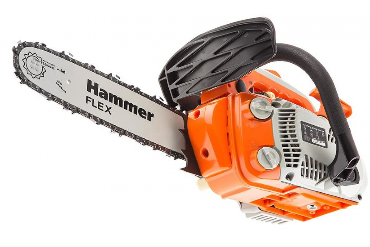 "Бензопила Hammer Flex BPL2512B  1кВт, 25см3, шина 12"" цепь 3/8""-1.3мм-45"