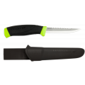 Нож Morakniv Fishing Comfort Serrated Edge, черный/зеленый