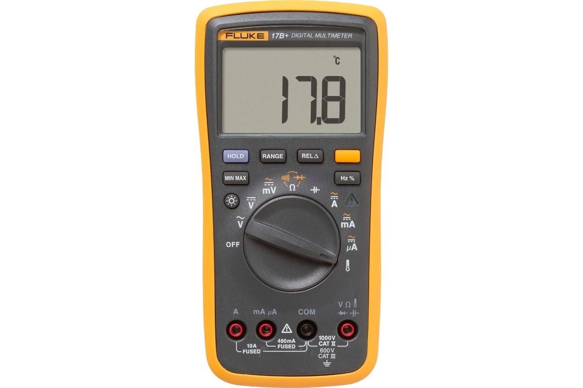 Мультиметр FLUKE 17b+  цифровой до 1000В до 10А