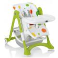 CAM Campione - стульчик для кормления складной бело-зеленый с принтом