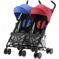 Прогулочная коляска Britax Holiday Double Red/Blue mix