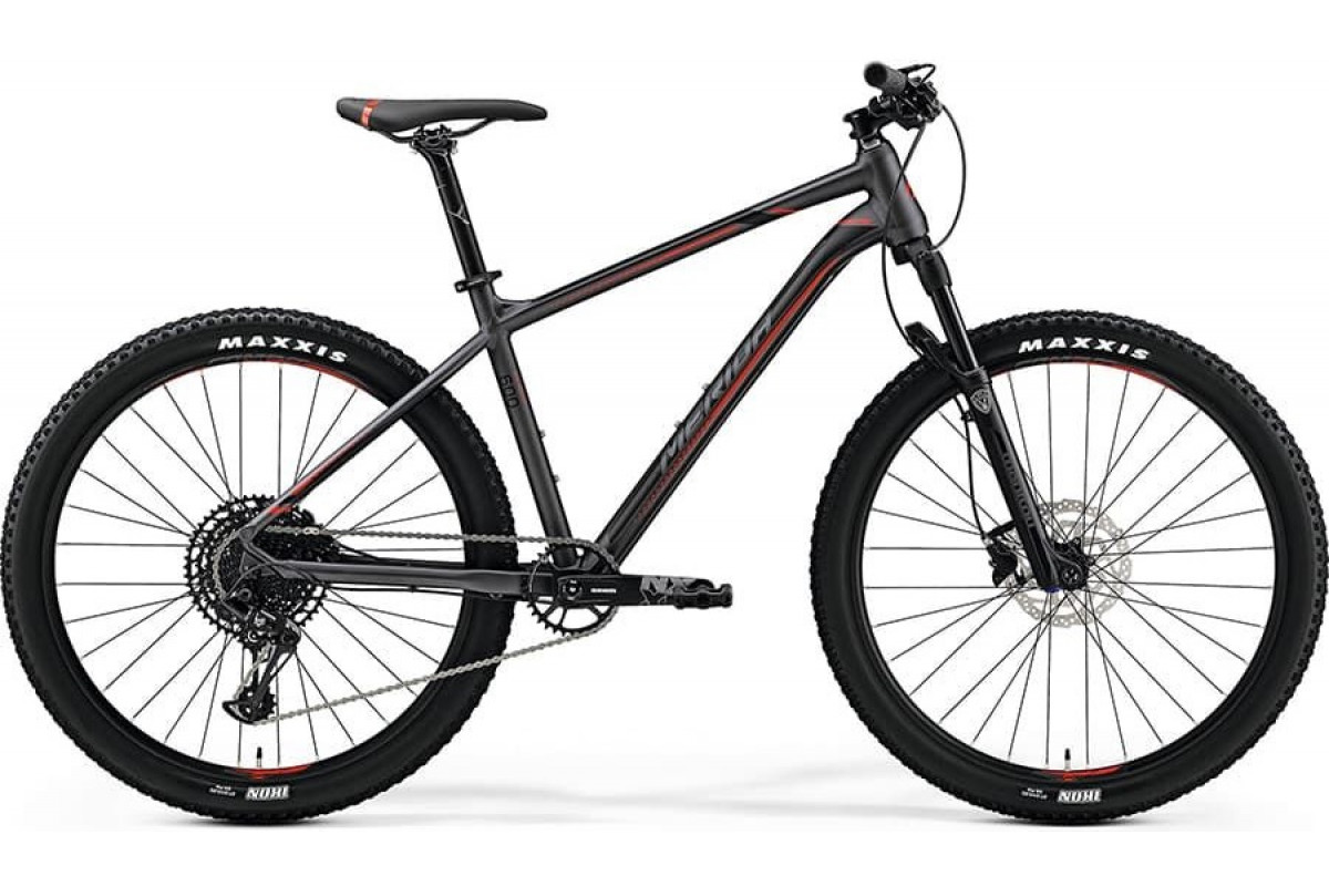 "Велосипед Merida Big Seven 600 MattDarkSilver/Black/Red 2019 S(15"")(90477)"