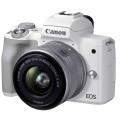 Беззеркальный фотоаппарат Canon EOS M50 Mark II kit EF-M 15-45mm f/3.5-6.3 IS STM белый