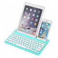 Беспроводная клавиатура-подставка Bluetooth 3.0 для смартфонов, планшетов, синий