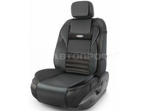 Ортопедическая накидка AUTOPRIFI на сиденье Multi Comfort, MLT-320G BK, анатомическая, 6 упоров, 3 предмета, материал экокожа, чёрный