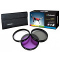 Polaroid 3 Piece Filter Kit 72mm (UV, CPL, FLD)