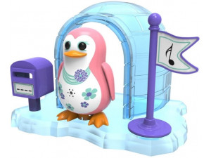 DigiBirds Пингвин в домике, розовый