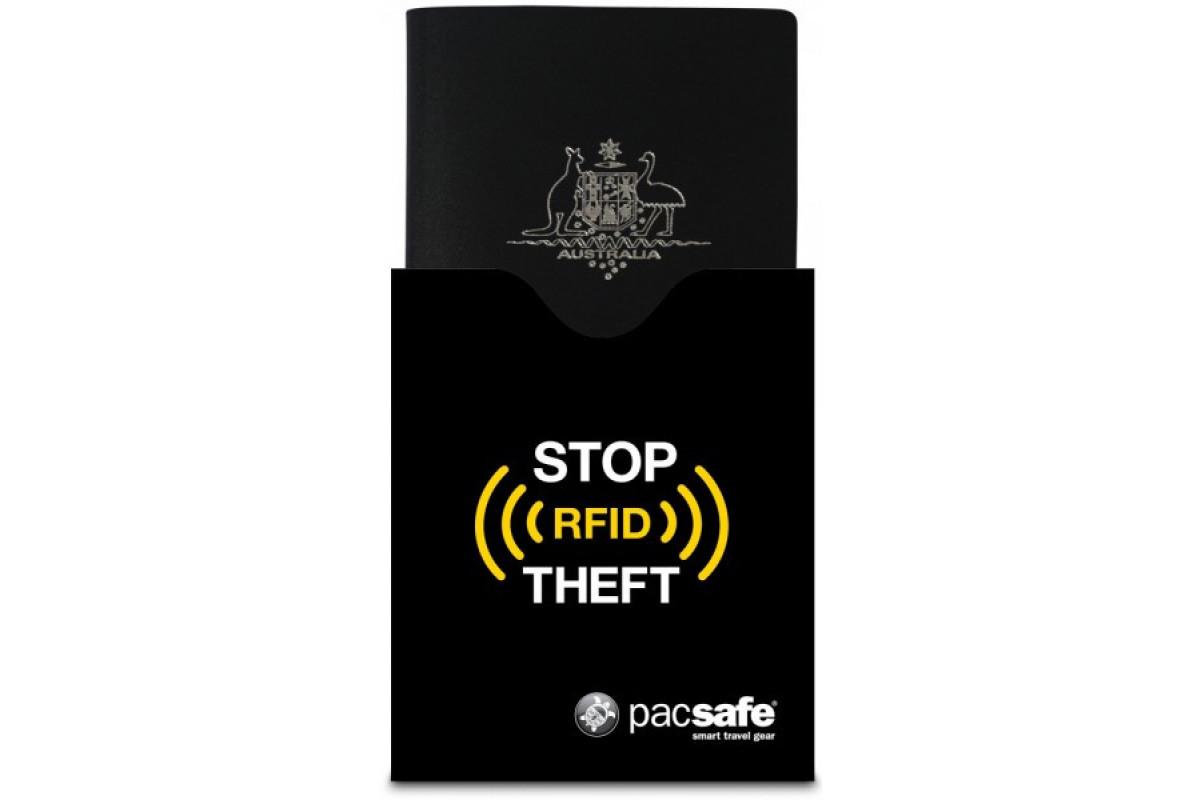 Чехол для паспорта Pacsafe RFIDsleeve 50, черный, 10370100