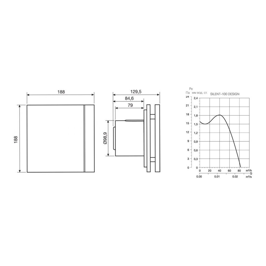 Вытяжной вентилятор Soler & Palau Silent-100 CRZ Design белый