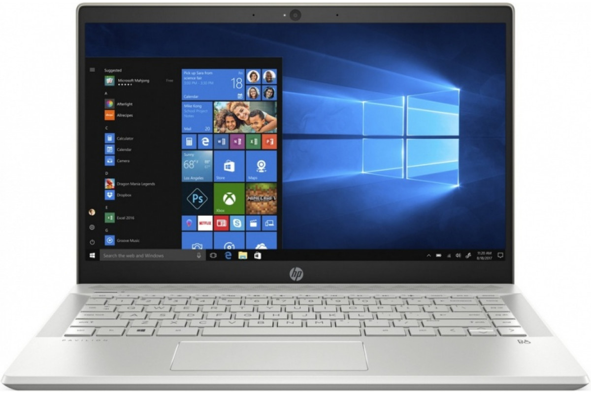 "Ноутбук HP Pavilion 14-ce0018ur<4HB77EA> i5-8250U (1.6)/8Gb/256Gb SSD/14.0"" FHD IPS AG/Int Intel UHD 620/Cam HD/Win10 (золотой)"