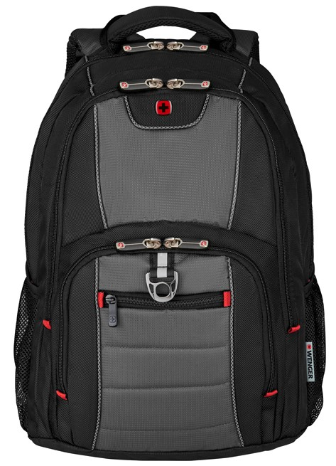Рюкзак Wenger 600633 16'', черный/серый, 38x25x48 см, 25 л