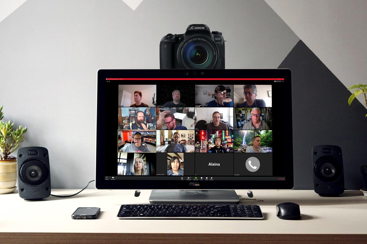 Как использовать зеркалки и беззеркалки для Zoom и Skype?